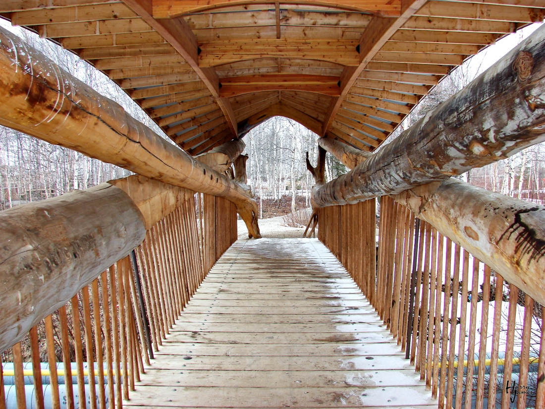 Footbridge over Pipeline