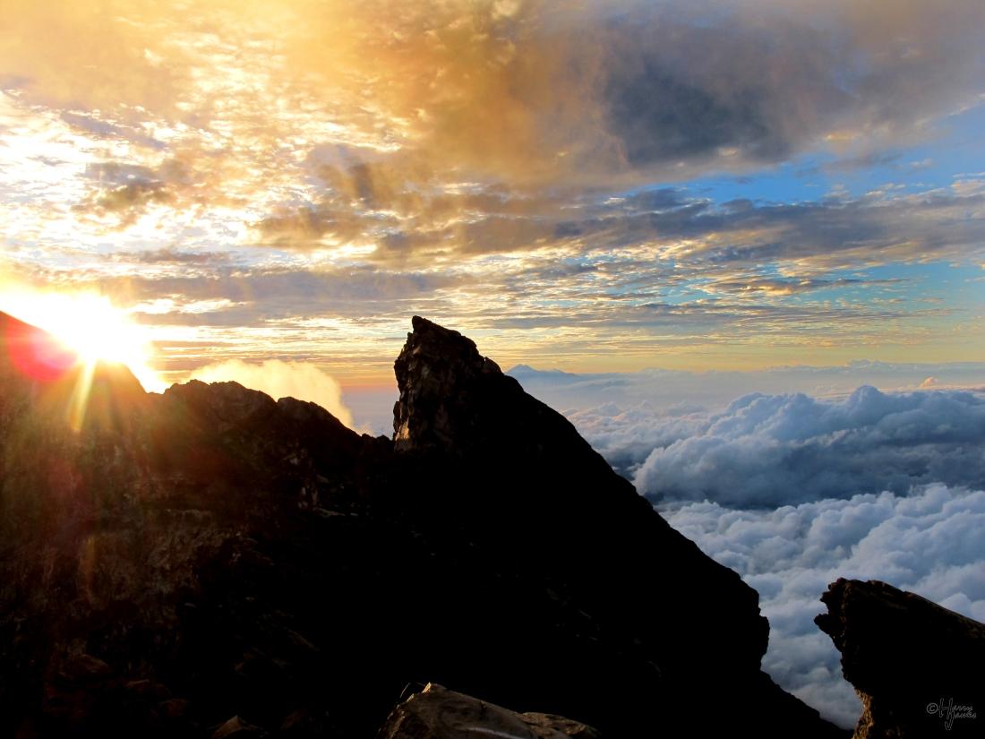 Summit of Mt. Agung, Bali, Indonesia, 24 June 2010.